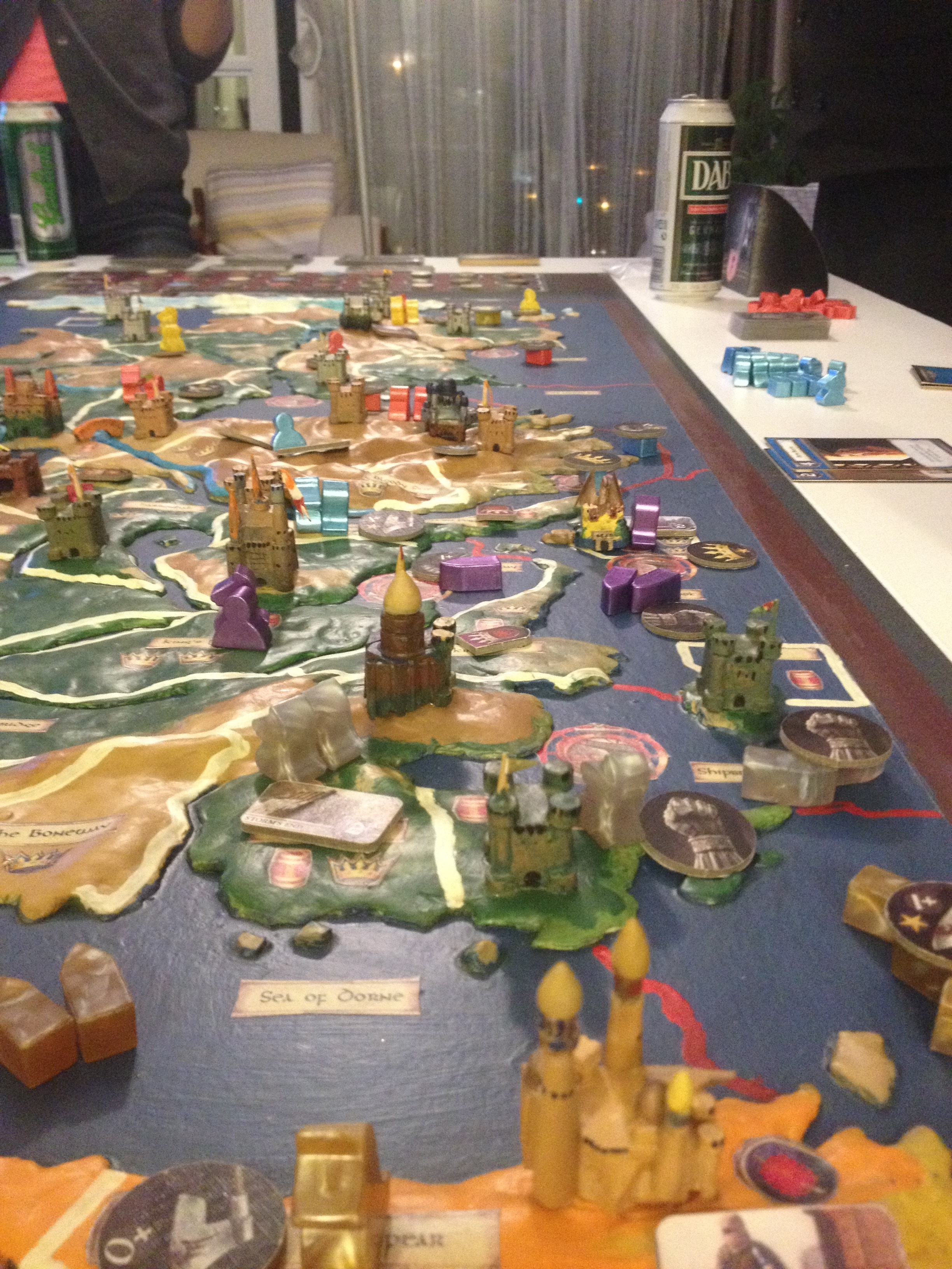3d Map Of The 9 Player Game Of Thrones Board Gameenter There